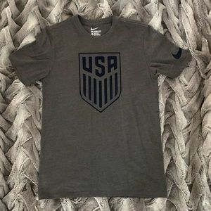 US Soccer Charcoal Crest T-Shirt